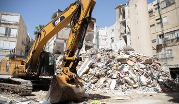 The building collapse site in Holon, earlier this month.