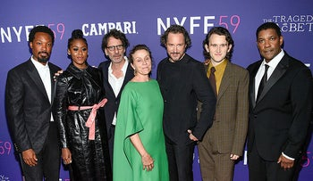 """59th New York Film Festival opening night screening of """"The Tragedy of Macbeth"""" at Alice Tully Hall, yesterday."""
