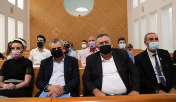 MKs, with Idit Silman on the left, in the Supreme Court in Jerusalem, in August.