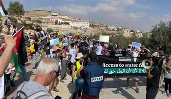 The protest in the South Hebron hills