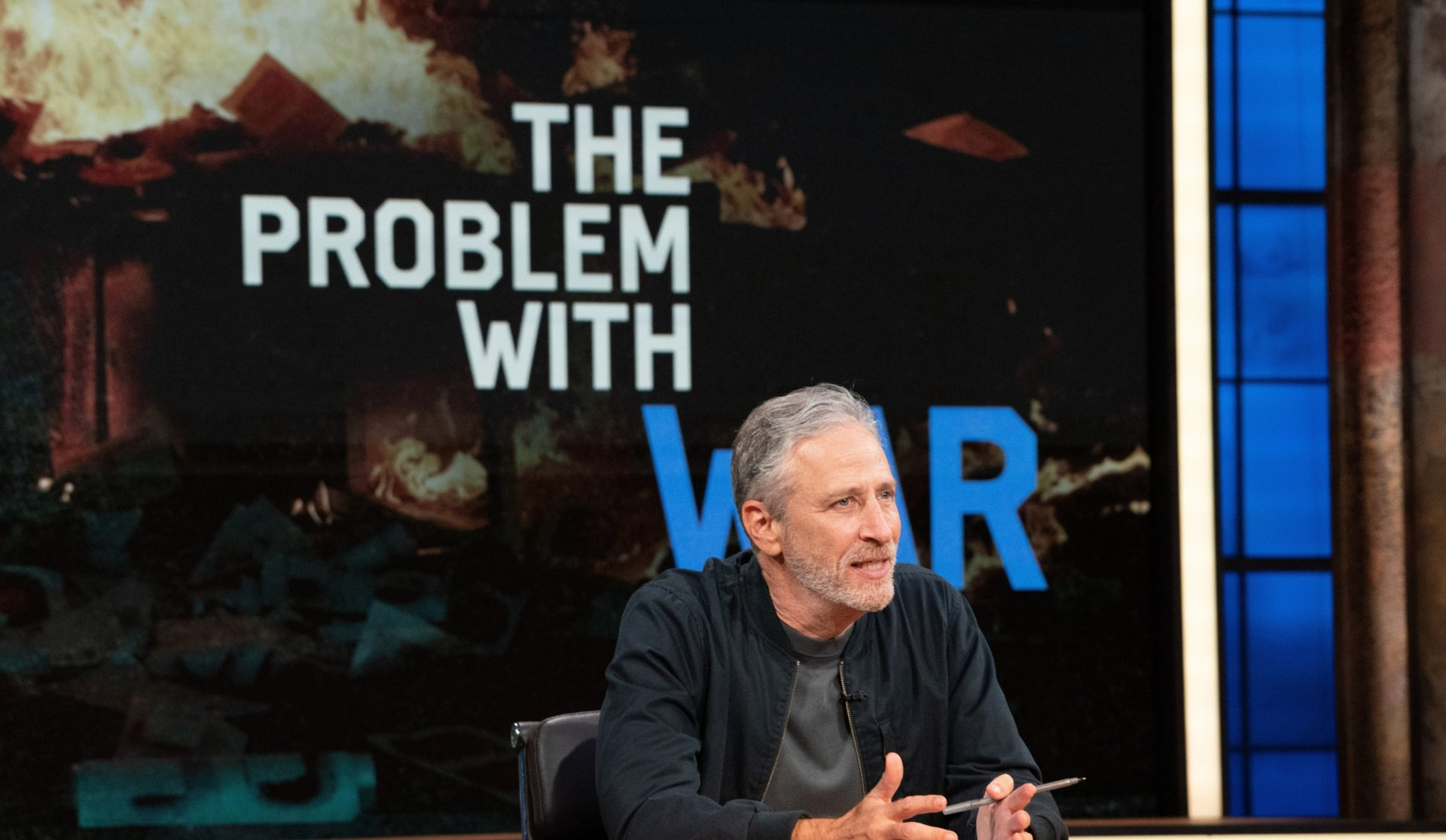 """A scene from """"The Problem with Jon Stewart."""""""