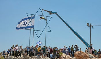The illegal West Bank outpost Evyatar, two months ago.