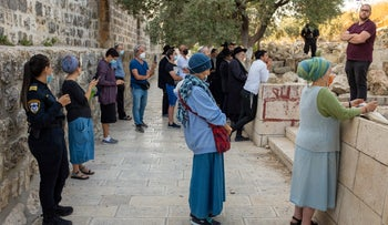 Worshipers at the Temple Mount, in September.