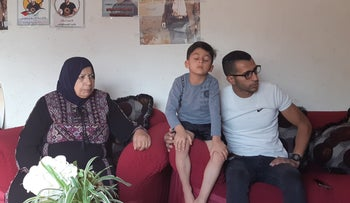 The family of Kayed Nammoura (Fasfous), a Palestinian whose hunger strike is protesting his administrative detention.