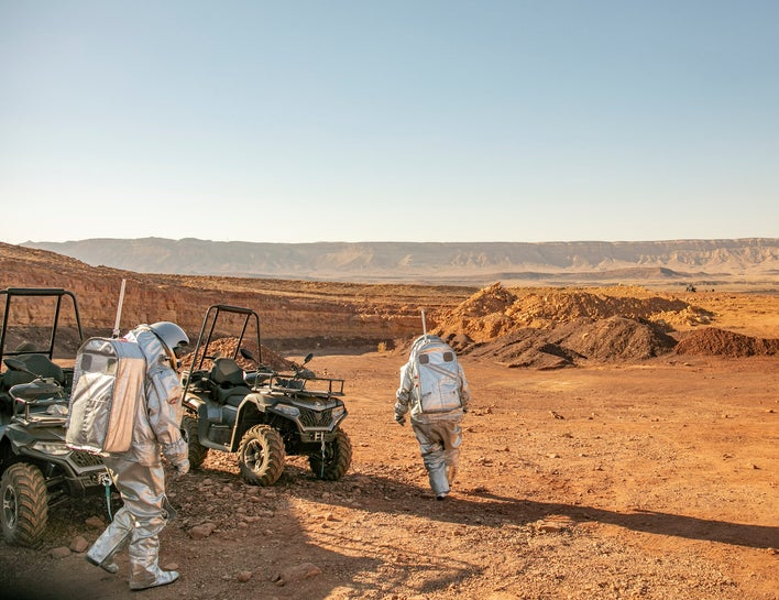 The Mars simulation project launched in Makhtesh Ramon on Sunday.
