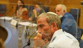 Intelligence Affairs Minister Elazar Stern in a committee discussion