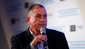 Journalist Gideon Levy at the Israel Conference on Peace in 2017.