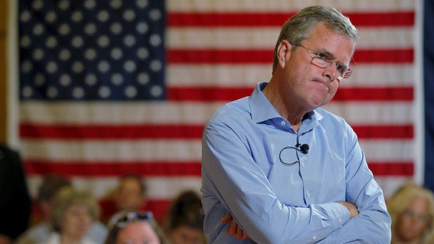U.S. Republican presidential candidate Jeb Bush listens to a question during a town hall meeting at the Medallion Opera House in Gorham, New Hampshire, in this file photo taken July 23, 2015.