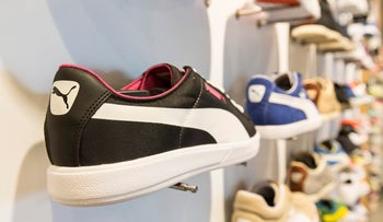 Puma sneakers are considerably more expensive in Foot Locker outlets in Israel than in the U.S.
