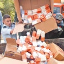 Palestinian officials dumping settlement-made products.
