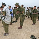 Religious Israel Defense Force soldiers praying, 2007.