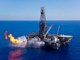 Offshore Leviathan natural gas drilling site.
