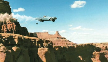 'Thelma and Louise' ends at the Grand Canyon.