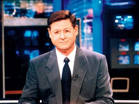 """Haim Yavin, Israel's Walter Cronkite, the once and indelible face of """"Mabat."""""""