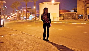 A prostitute near the old Tel Aviv central bus station.