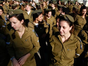 Women soldiers in the IDF.