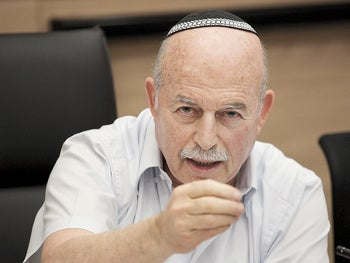 Knesset Constitution, Law and Justice Committee chairman MK Nissan Slomiansky.