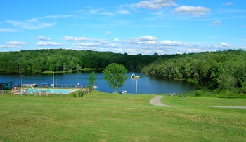 A view of Camp Ramah in the Poconos.