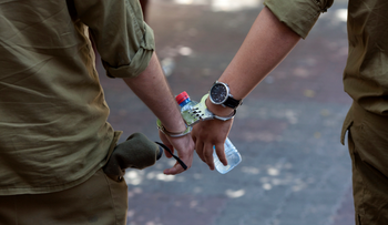 Illustrative photo of IDF soldier under arrest.