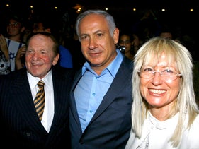 Sheldon Adelson and Netanyahu.