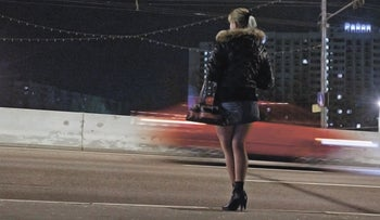 A prostitute on the street