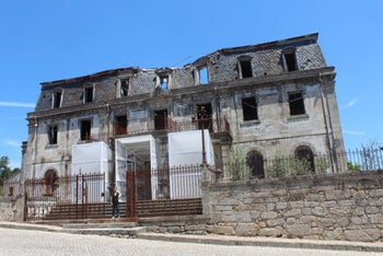 The dilapidated home of diplomat Aristides de Sousa Mendes, who saved the lives of 30,00 people during the Holocaust, including 10,000 Jews.