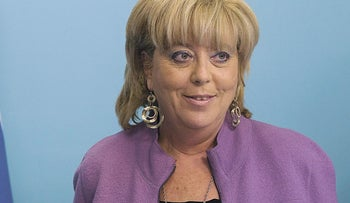 Netanya Mayor Miriam Feirberg-Ikar, who police say will be questioned under warning that she may face criminal charges.