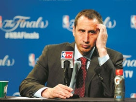 David Blatt at a news conference after the Cavaliers were defeated by the Golden State Warriors, in Game 6 of NBA Finals, June 17, 2015.