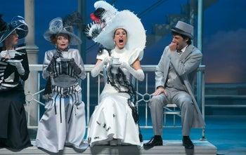 'My Fair Lady' at Habima with Shani Cohen (center, right) as Eliza Doolittle.