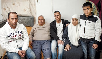 Members of the Shamasneh family at their long-time home in Sheikh Jarrah, East Jerusalem, before their eviction on September 4, 2017.