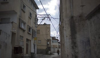 A street in the Arab Israeli city of Taibeh.