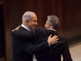 The Good Old Days: Lapid and Netanyahu during the previous government.
