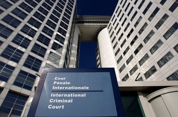 The entrance of the International Criminal Court (ICC) is seen in The Hague, Netherlands, March 3, 2011.