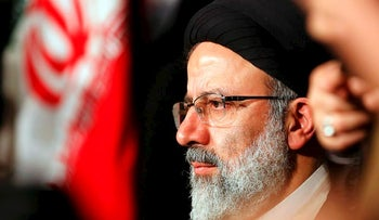 This file photo taken on April 29, 2017 shows Iranian presidential candidate Ebrahim Raisi looking on during a campaign rally in the capital Tehran
