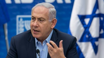 Prime Minster Benjamin Netanyahu speaks at a Likud faction meeting at the Knesset, May 29, 2017.