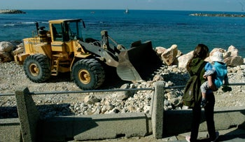 Beach construction continues as long as the authorites allow it to.