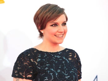 "Actress Lena Dunham, of the comedy series ""Girls,""appears at the 64th Primetime Emmy Awards in Los Angeles in September 2012."