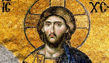 This ancient mosaic of Jesus Christ is from Turkey, where Aramaic was the common language at the time of his life.