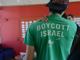 A pro-BDS student at an Open Hillel Conference.