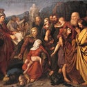 A reproduction of 'The Maccabees,' a 1842 painting by Wojciech Korneli Stattler.