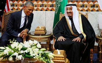 Obama meets with King Salman in Riyadh (Reuters)