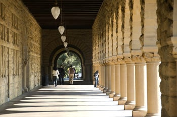 Arches of the Stanford University campus.
