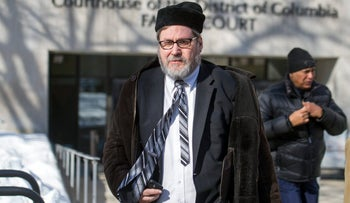 Rabbi Barry Freundel leaving the D.C. Superior Court House in Washington, February 2015 .
