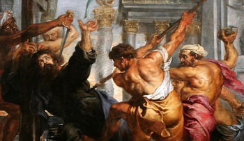Martyrdom of St. Thomas by Peter Paul Rubens, ~1636