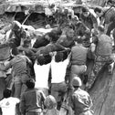 British soldiers give a hand in rescue operations at the site of the bomb-wrecked U.S. Marine command center near the Beirut airport, Oct. 23, 1983.