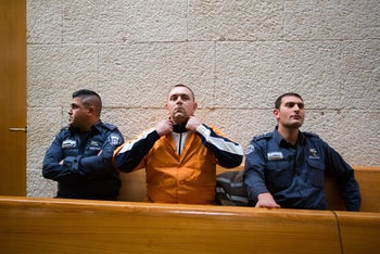 Roman Zadorov appears at the Jerusalem Supreme Court for his appeal, December 23, 2015.