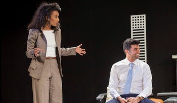 Ruth Asrasai and Amos Tamam in 'Disgraced.'