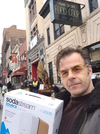 Yoav Gal, a member of the Park Slope Food Coop who opposes the BDS stance, New York, 2015.