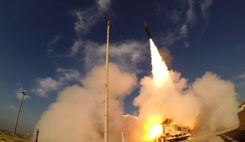 The Arrow 3 anti-ballistic missile being test-fired.