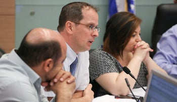 Israel's Deputy Attorney Raz Nizri, who specializes in criminal cases, in the Knesset in July. He questioned the suspects in the Duma arson attack about their alleged torture by the Shin Bet security service's interrogators.